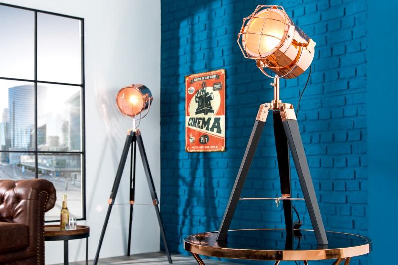 Stojanová lampa Tripod 65cm čierna meď