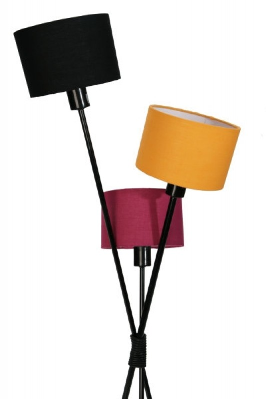 Stojanová lampa Vita čierna