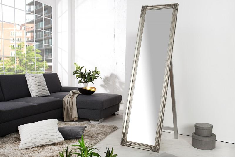 Stojanové zrkadlo Versailles 160cm strieborná