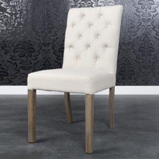 Stolička Addison (prešívanie) plátno créme