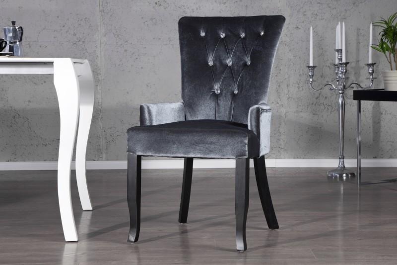 Stolička Boutique / Armlehne sivá