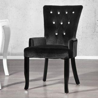 Stolička Boutique / Armlehnen čierna