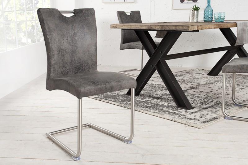 Stolička Buffalo Vintage sivá