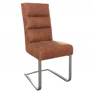Stolička Comfort Vintage light hnedá
