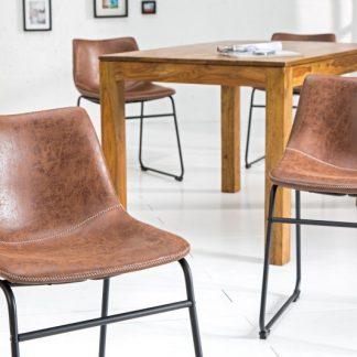 Stolička Django vintage hnedá železo
