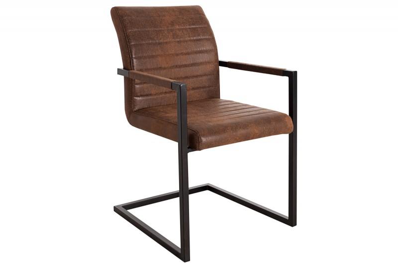 Stolička Empire Vintage hnedá železo