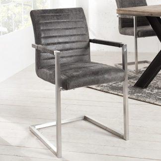 Stolička Empire Vintage sivá