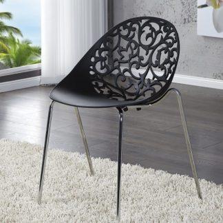 Stolička Flora čierna