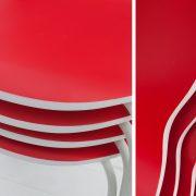 Stolička Form Bicolor červená biela