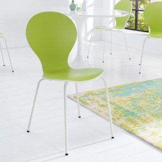 Stolička Form Bicolor limetková biela