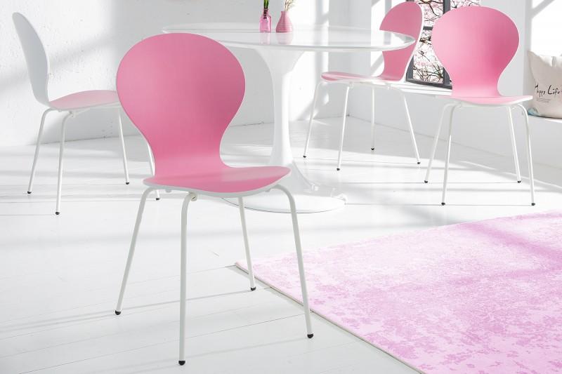 Stolička Form Bicolor rosa biela