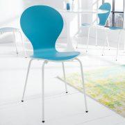 Stolička Form Bicolor tyrkysová biela