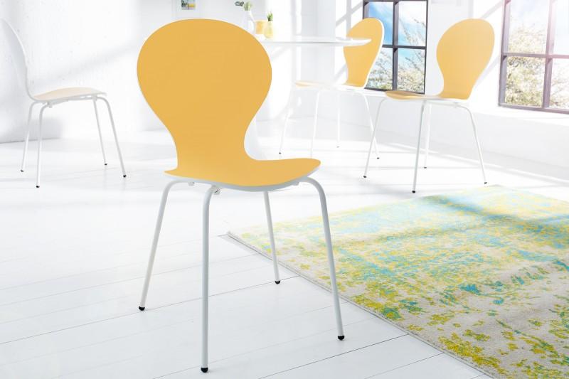 Stolička Form Bicolor žltá biela