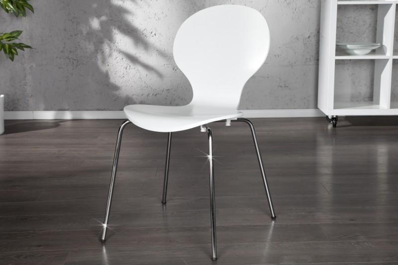 Stolička Form biela
