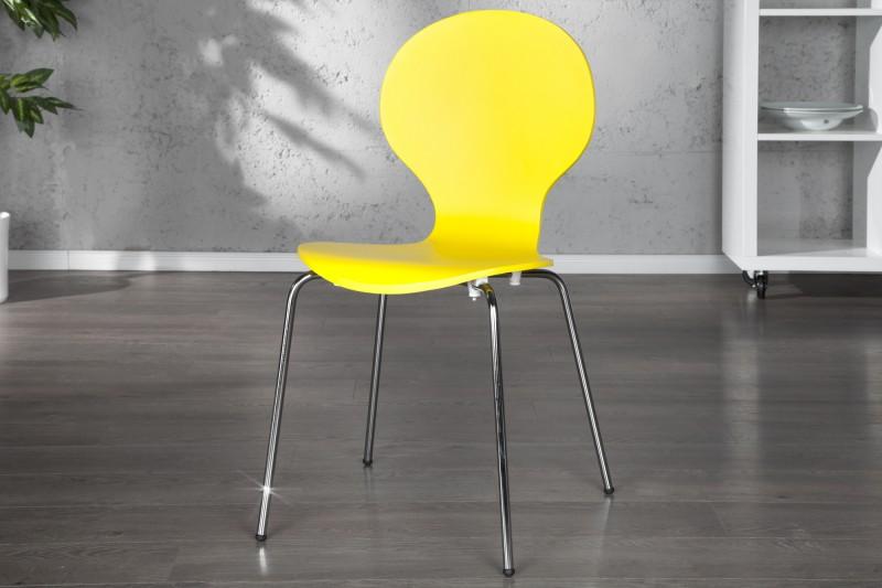 Stolička Form žltá