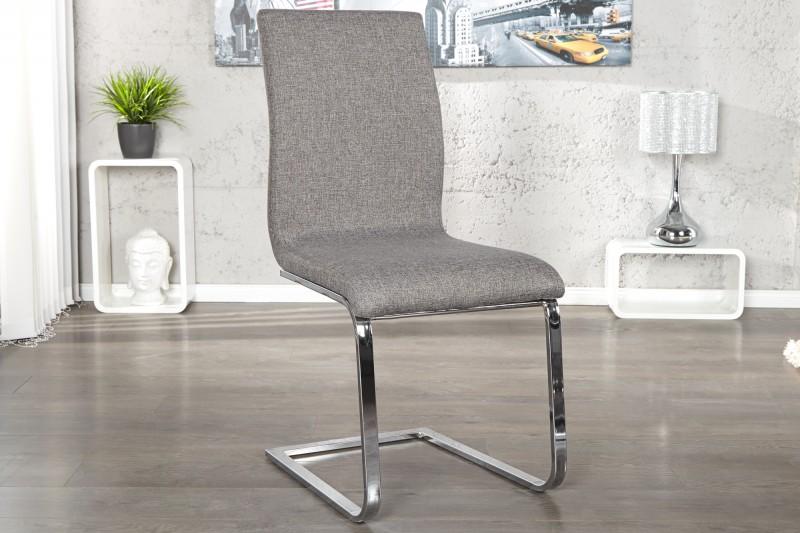 Stolička Hampton vrecovina sivá