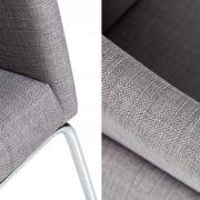 Stolička Livorno Struktur sivá