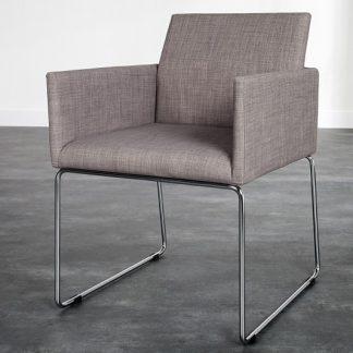 Stolička Livorno sivá Struktur