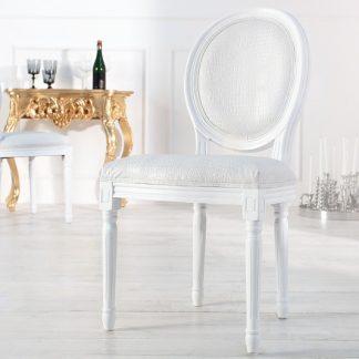 Stolička Louis de Lux biela