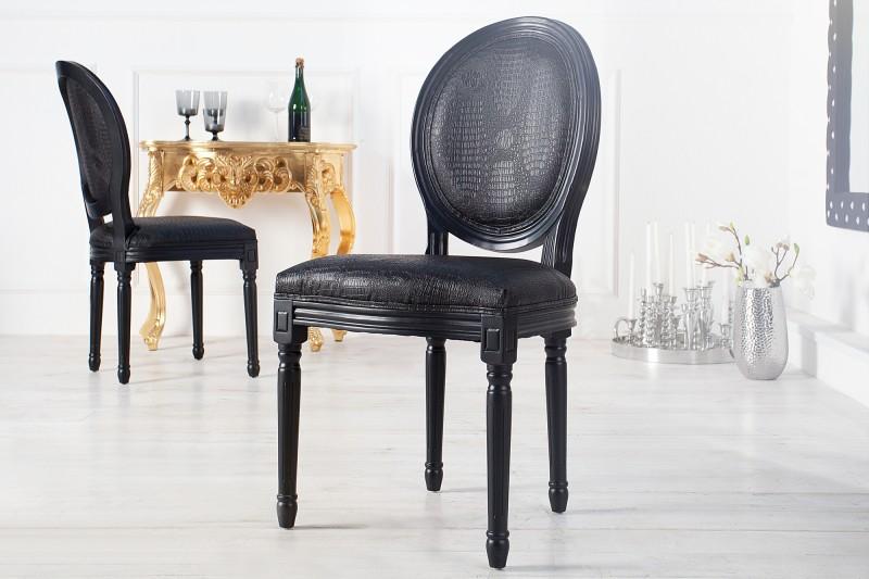 Stolička Louis de Lux čierna