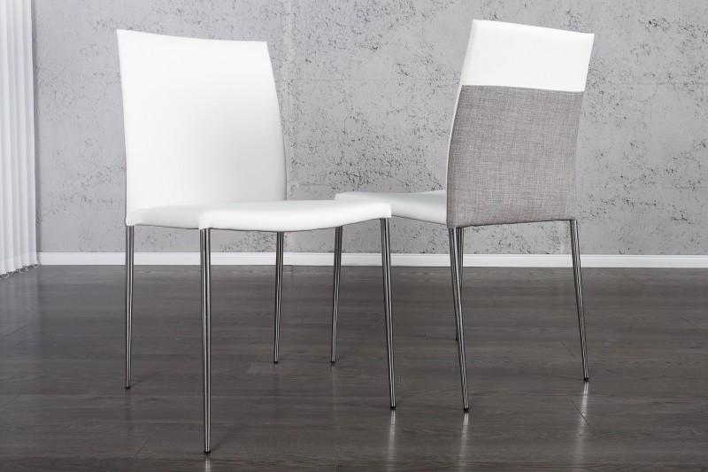 Stolička Milano II biela sivá stapelbar