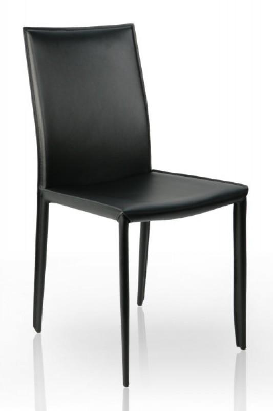 Stolička Milano čierna - Leder