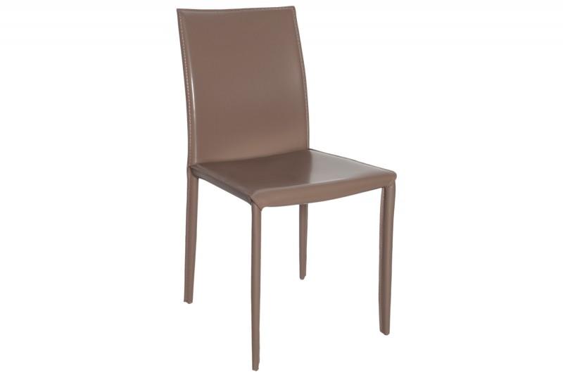 Stolička Milano sivá - Leder