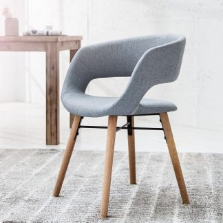 Stolička Nordic Star Struktur sivá dub