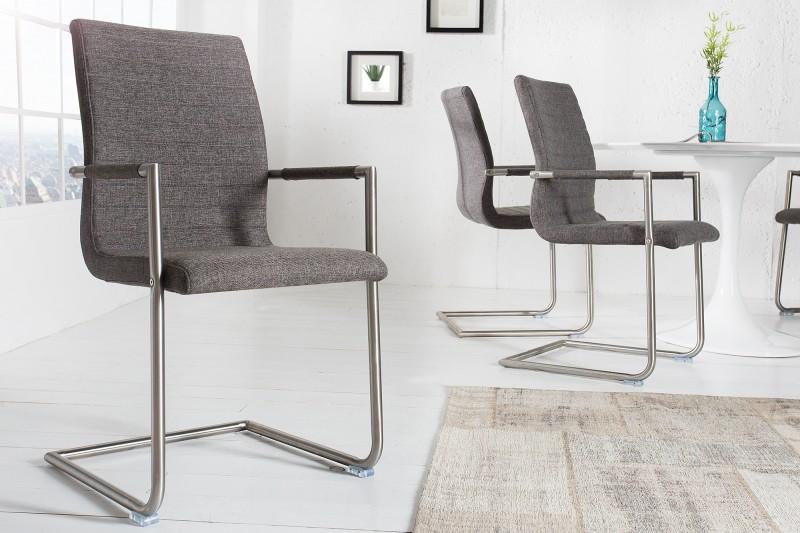 Stolička Richmond Struktur sivá