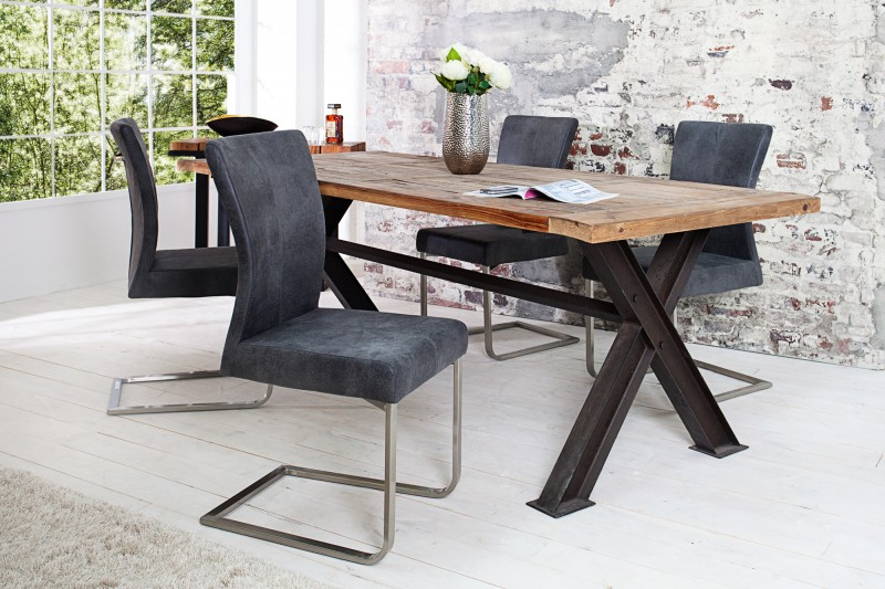 Stolička Samson Vintage sivá