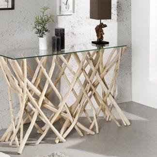 Stolík Driftwood 120cm - naplavené drevo