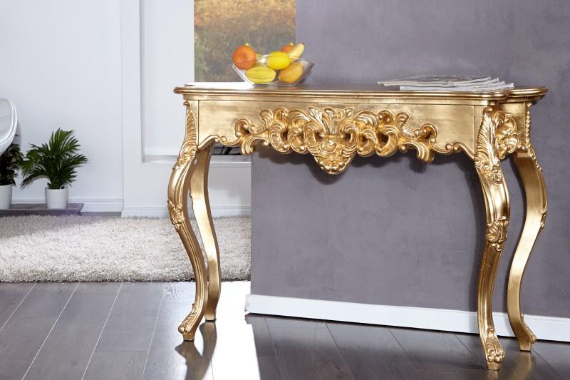 Stolík Venice zlatá 110cm