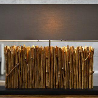 Stolová lampa - naplavené drevo Desire hnedá