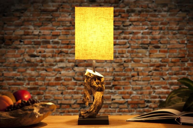 Stolová lampa - naplavené drevo Hypnotic béžová