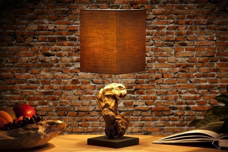 Stolová lampa - naplavené drevo Hypnotic hnedá