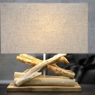 Stolová lampa - naplavené drevo Life béžová