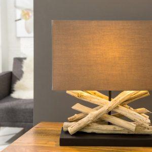 Stolová lampa - naplavené drevo Life hnedá