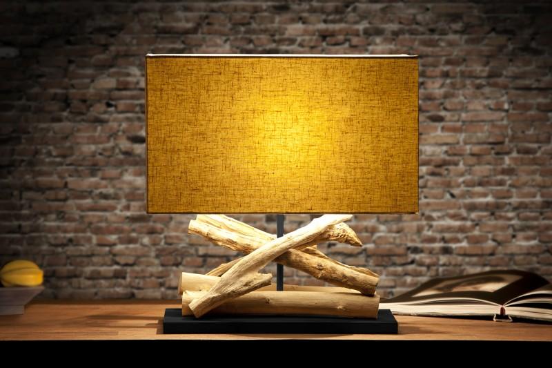 Stolová lampa - naplavené drevo Life plátno