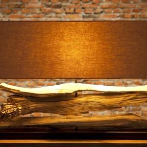 Stolová lampa - naplavené drevo Riverine béžová