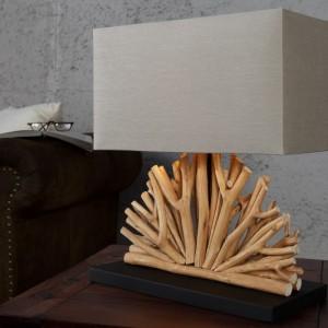 Stolová lampa - naplavené drevo Ventaglio béžová