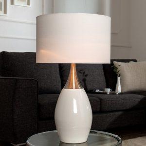 Stolová lampa Carla 60cm biela