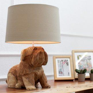 Stolová lampa Dog 50cm agát