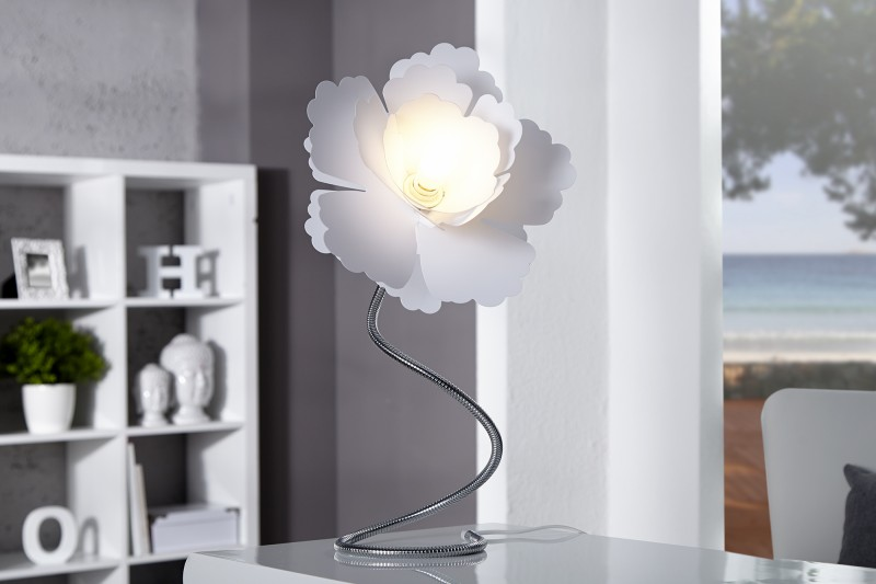 Stolová lampa Florcita biela