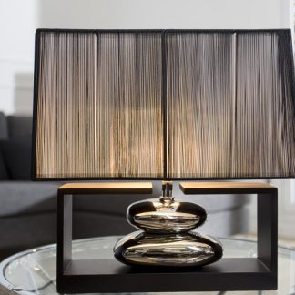 Stolová lampa Gracia 35cm čierna strieborná