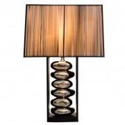 Stolová lampa Gracia 55cm čierna strieborná