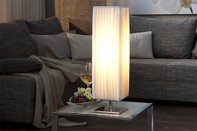 Stolová lampa Paris biela 60cm