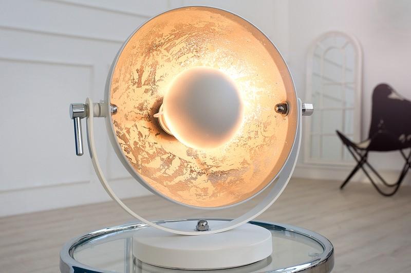 Stolová lampa Studio 40cm biela strieborná