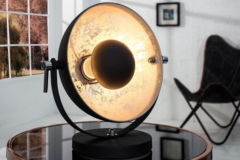 Stolová lampa Studio 40cm čierna strieborná