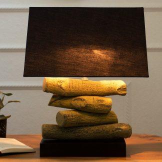 Stolová lampa Terra 50cm čierna