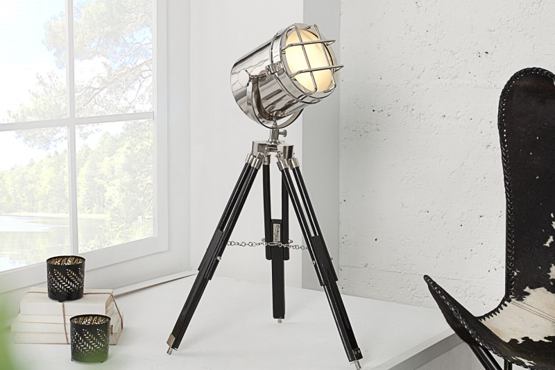 Stolová lampa Tripod Spot 70cm chróm